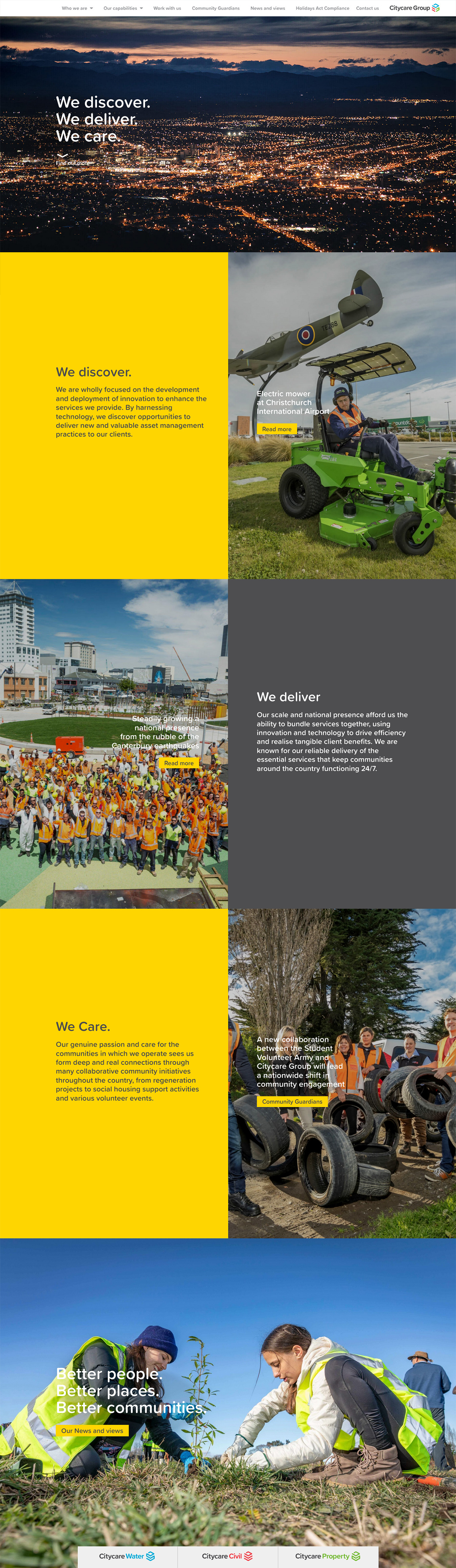 City Care Website Scroll Images 2020