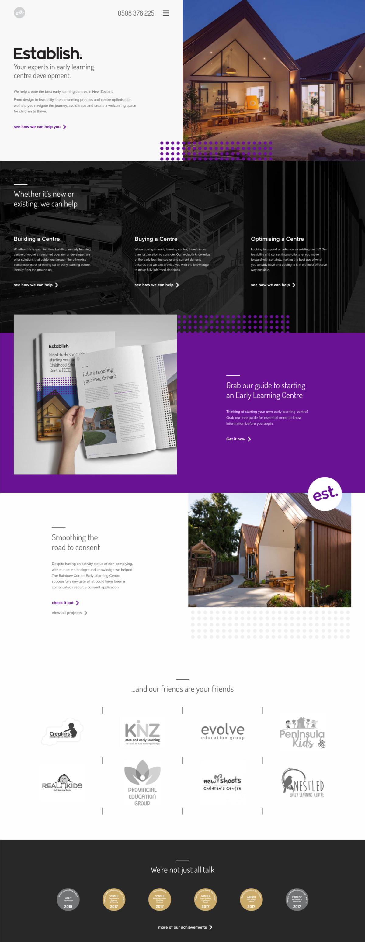 Portfolio 2020 Page Establish Long Scroll V2
